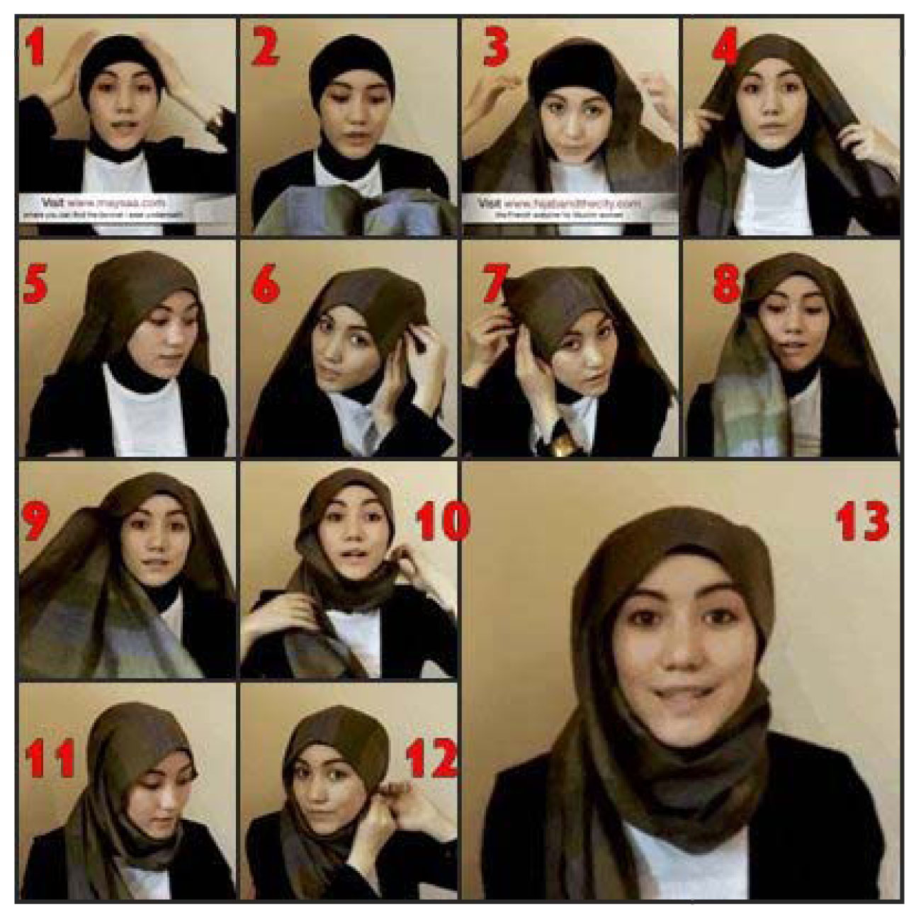 Tutorial outfit for hijab style think creative Hijab fashion style hana tajima