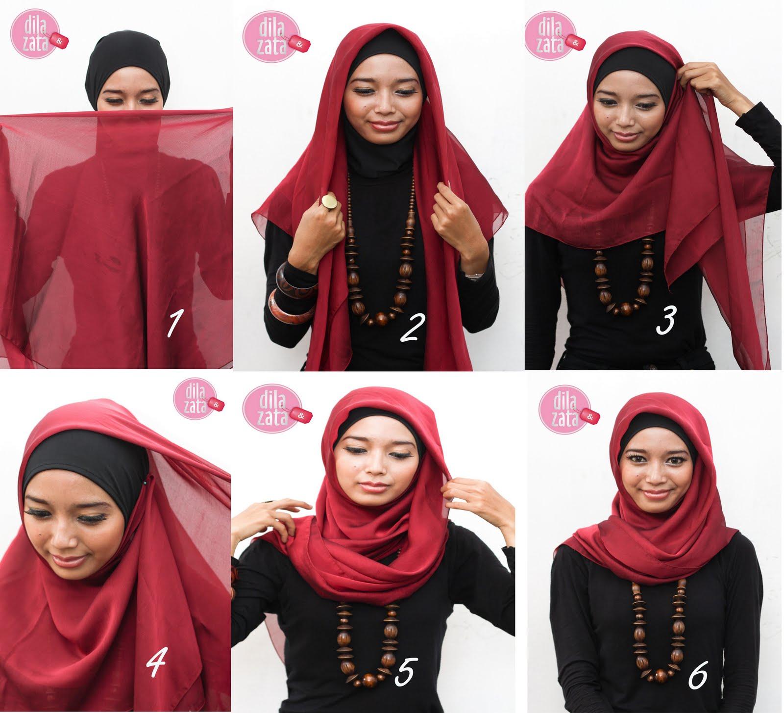 Httutorial Hijab Segitiga Tutorial Hijab Segi Empat Android Apps