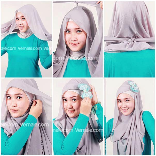 Tutorial-4-Langkah-Mudah-Kreasi-Hijab-Paris | Think Creative